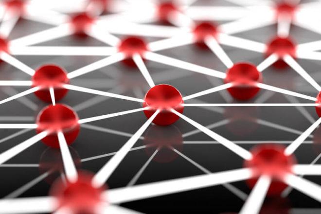 Foto mit einem Netzwerk