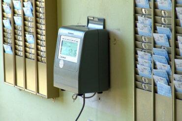 Foto von einem Gerät zur Zeiterfassung