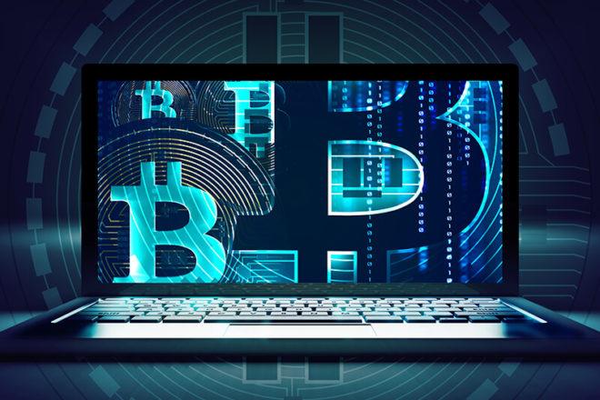 Symbolbild für Bitcoin mit verfremdetem Schriftzug