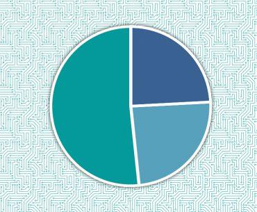 Illustration einer Tortengrafik ohne Zahlen