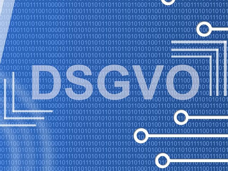 Schriftzug DSGVO auf Computerchip