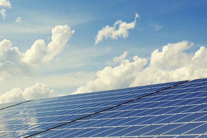Foto mit Solarpanelen