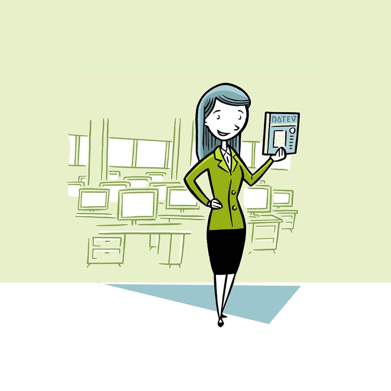 Eine Expertin berichtet über die neuen DATEV-Programmversionen für Unternehmen.