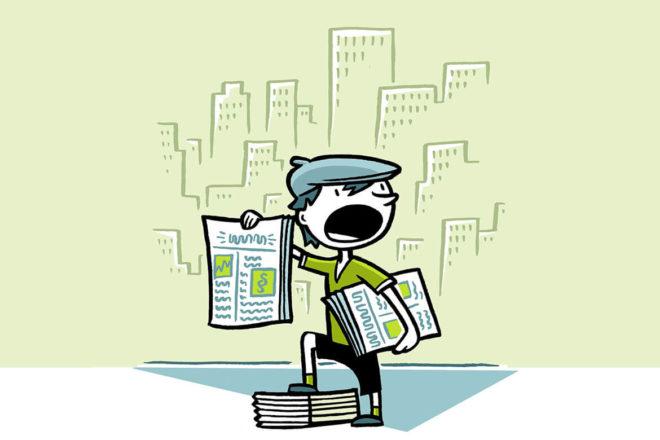 Zeitungsjunge berichtet über neue Angebote auf dem DATEV-Marktplatz.