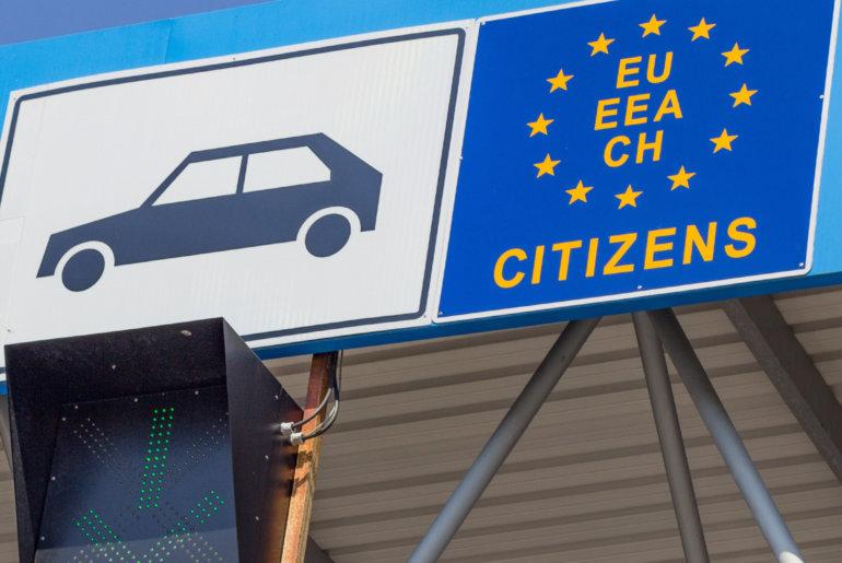 Bild von Grenzübergang für Autos in die EU