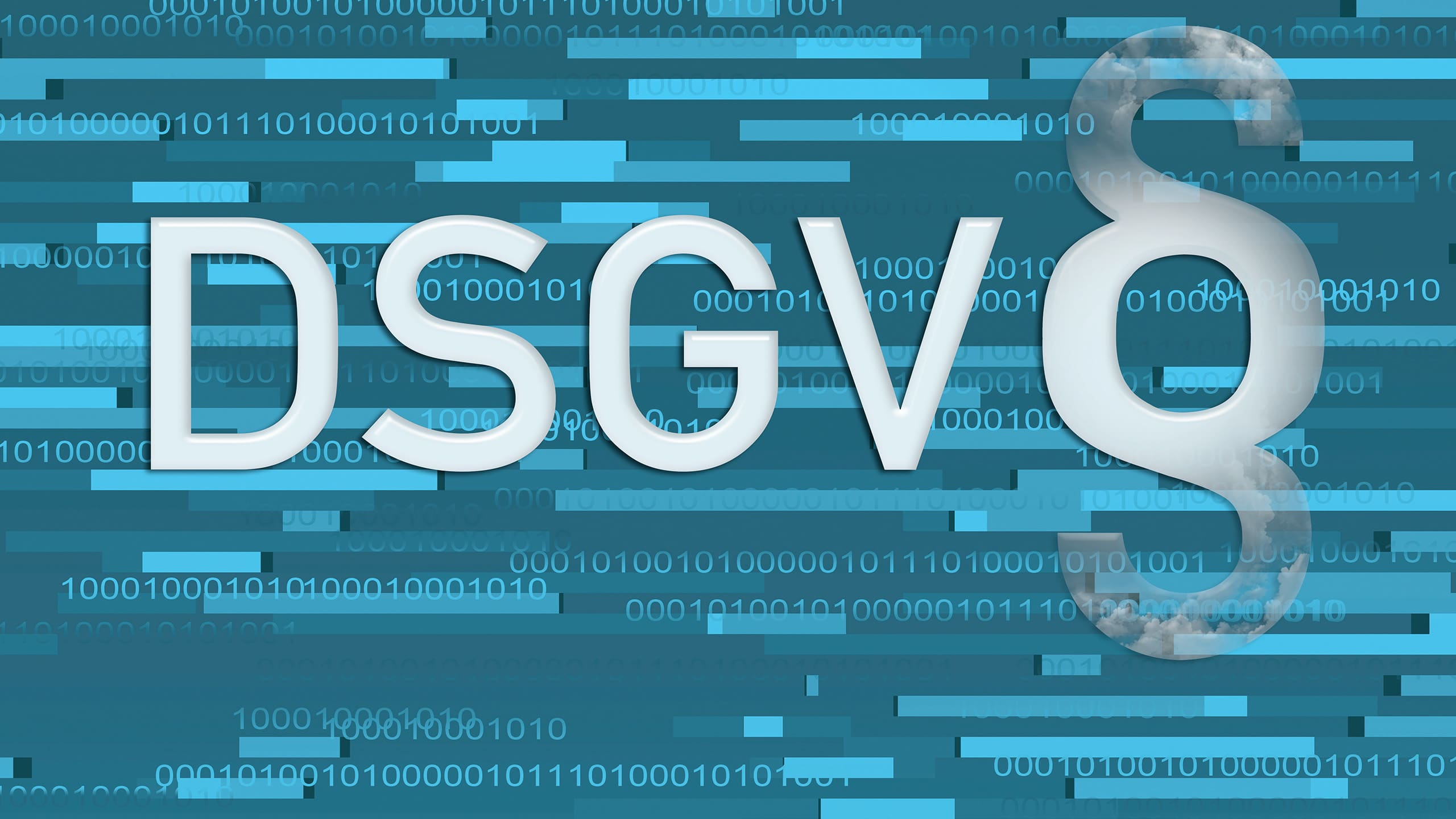 Der Schriftzug DSGVO mit Paragrafenzeichen symbolisiert das Bußgeld als Strafe für einen Verstoß gegen die DSGVO