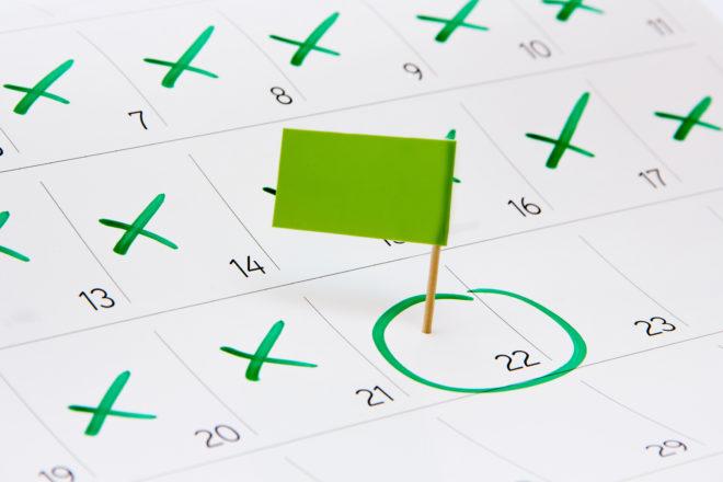 Der Kalender zeigt die Release-Planung bei DATEV für Programmneuversionen