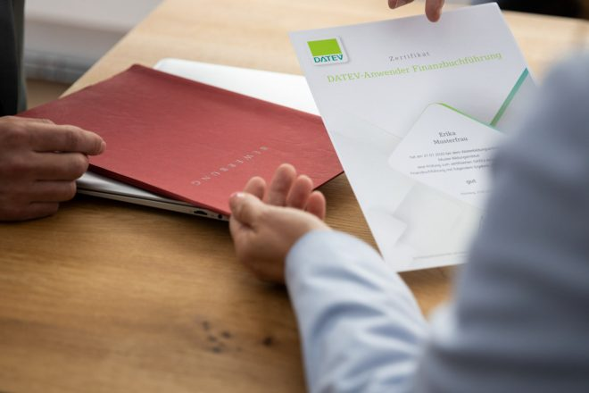 Das DATEV-Zertifikat belegt die praktischen Programmkenntnisse des Anwenders